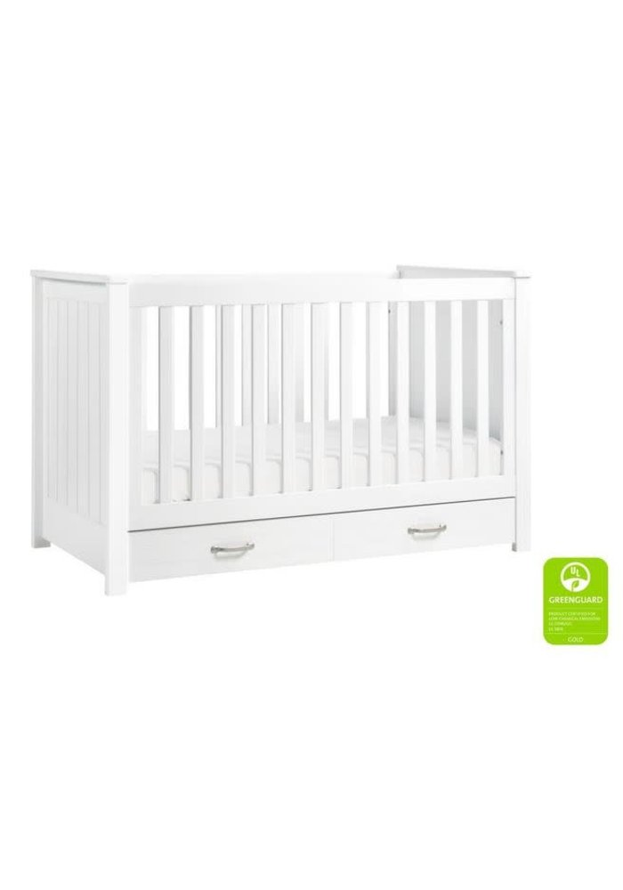 Davinci Asher 3-in-1 Convertible Crib with Toddler Bed Conversion Kit In White