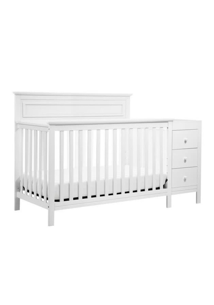 Davinci Autumn 4-in-1 Crib and Changer Combo In White