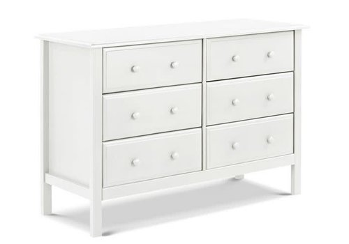 DaVinci Davinci Autumn/Jayden 6-Drawer Double Wide Dresser In White