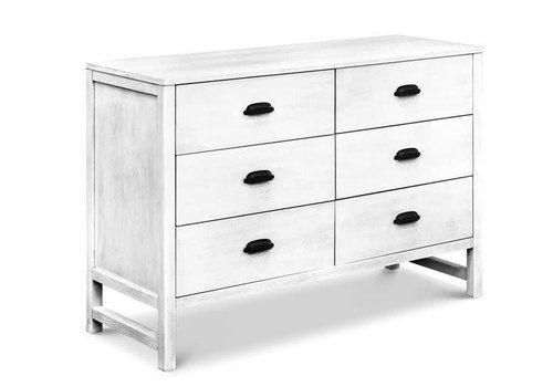 DaVinci Davinci Charlie/Fairway 6-Drawer Double Dresser In Cottage White