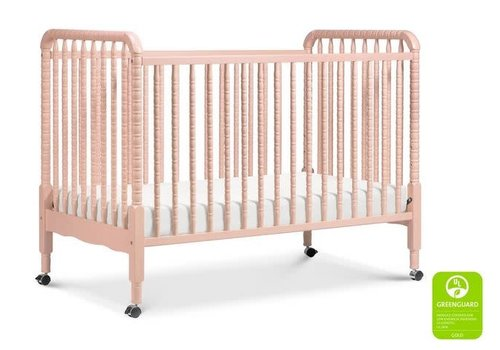 DaVinci Davinci Jenny Lind 3-in-1 Convertible Crib With Spindles In Blush Pink