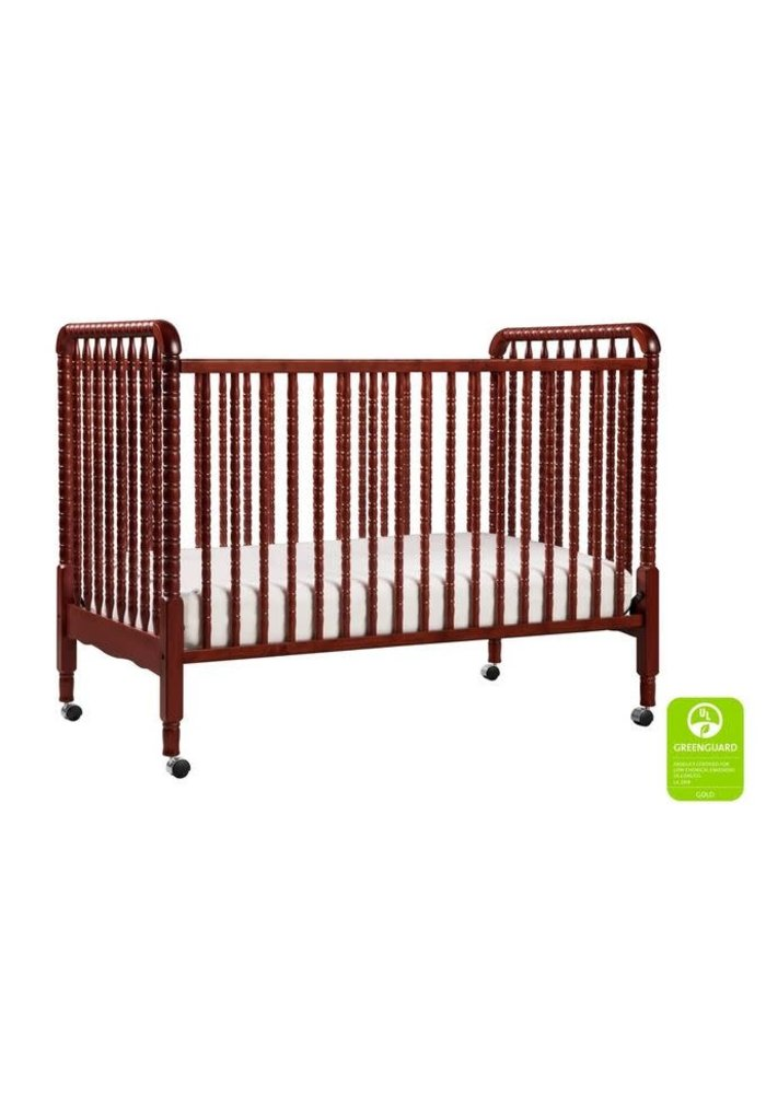 Davinci Jenny Lind 3-in-1 Convertible Crib With Spindles In Rich Cherry