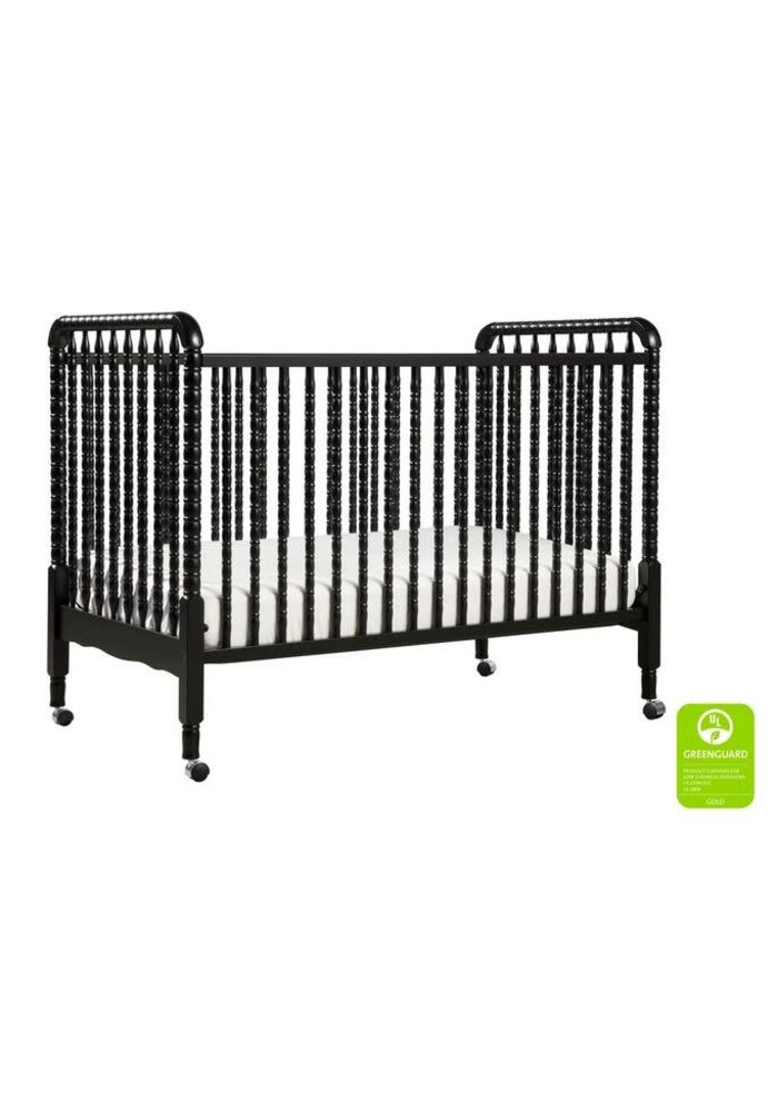 Davinci Jenny Lind 3-in-1 Convertible Crib With Spindles In Ebony