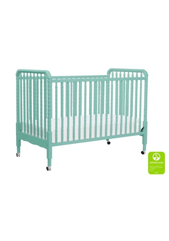 Davinci Jenny Lind 3-in-1 Convertible Crib With Spindles In Lagoon