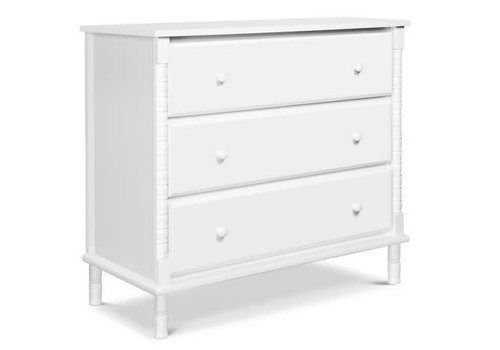 DaVinci Davinci Jenny Lind Spindle 3-Drawer Dresser In White