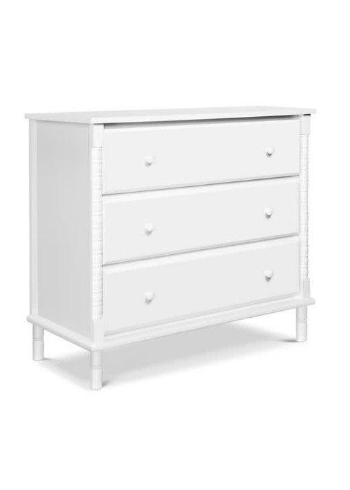 DaVinci Davinci Jenny Lind Spindle 3-Drawer Dresser In White