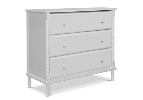 DaVinci Davinci Jenny Lind Spindle 3-Drawer Dresser In Fog Grey