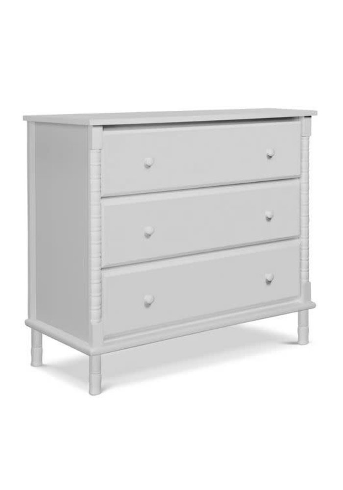 Davinci Jenny Lind Spindle 3-Drawer Dresser In Fog Grey