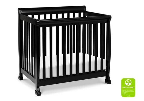 DaVinci Davinci Kalani 4-in-1 Convertible Mini Crib In Ebony