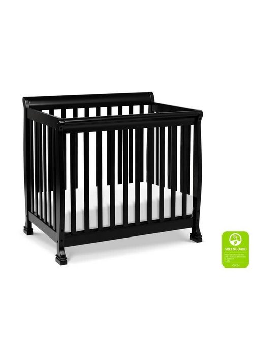 DaVinci Davinci Kalani 4-in-1 Convertible Mini Crib In Ebony