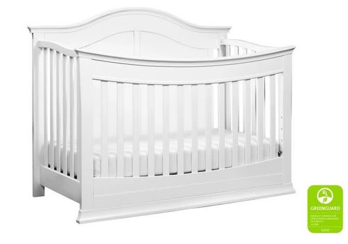 DaVinci Davinci Meadow 4-in-1 Convertible Crib With Toddler Bed Conversion Kit In White