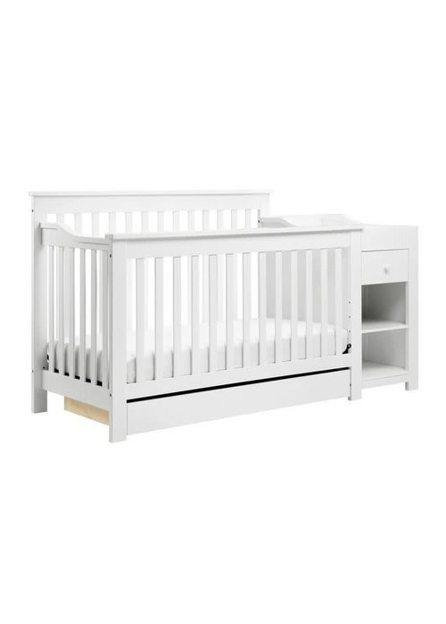 DaVinci Davinci Piedmont 4-in-1 Crib and Changer Combo In White