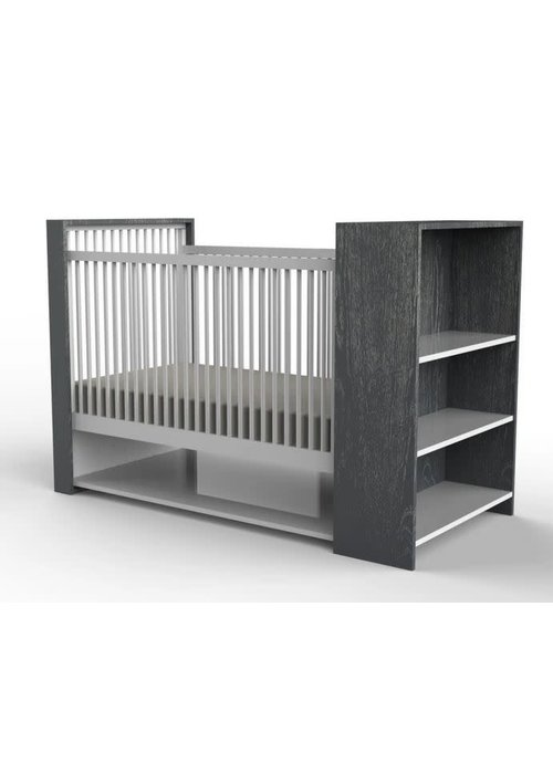 Duc Duc Duc Duc Aj Crib In Dark Grey Cerused