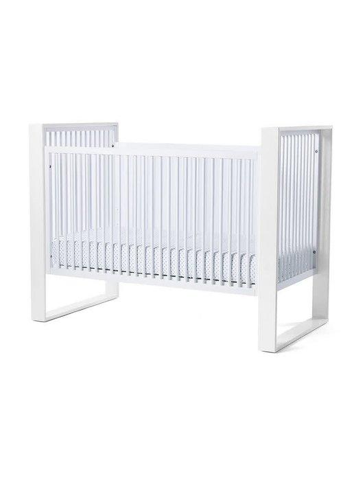 Duc Duc Duc Duc Austin Crib In White/White (Quick Ship)