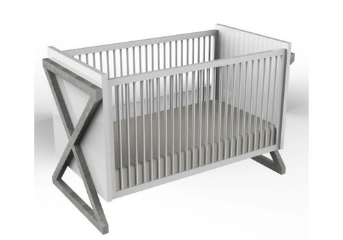 Duc Duc Duc Duc Campaign Crib In Weathered Grey
