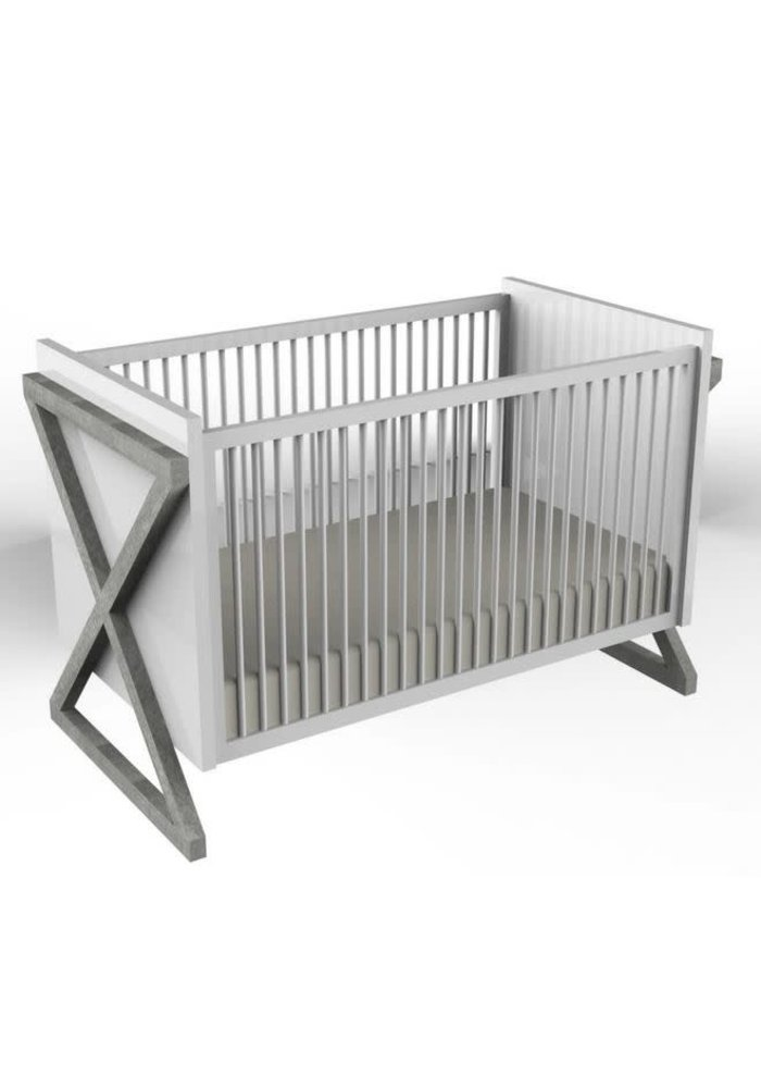 Duc Duc Campaign Crib In Weathered Grey