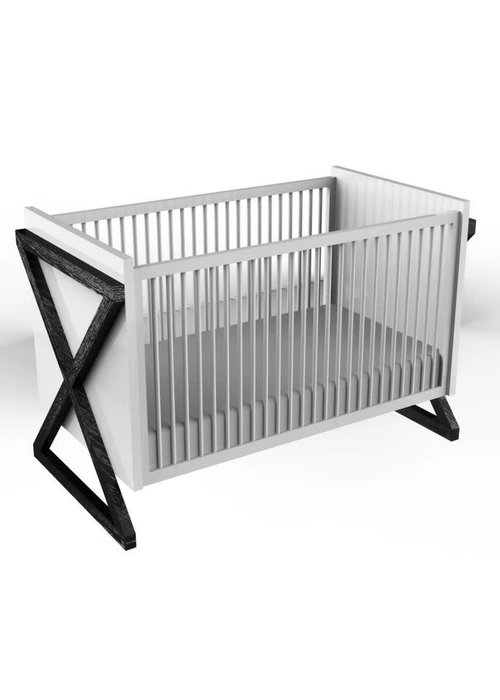 Duc Duc Duc Duc Campaign Crib In Onyx Cerused
