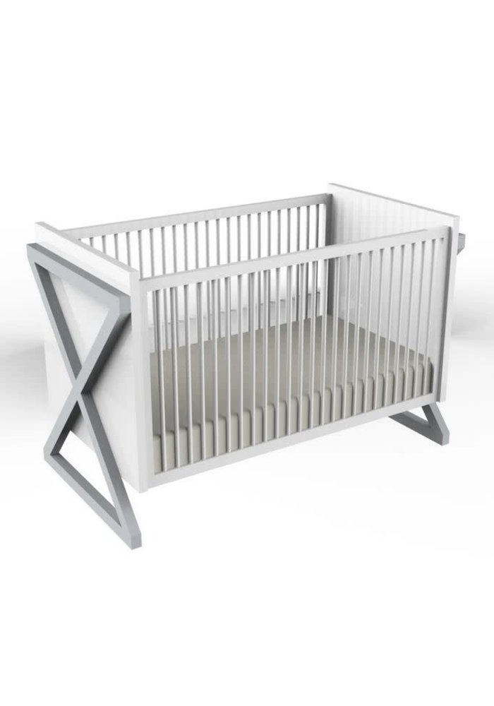 Duc Duc Campaign Crib In Light Gray