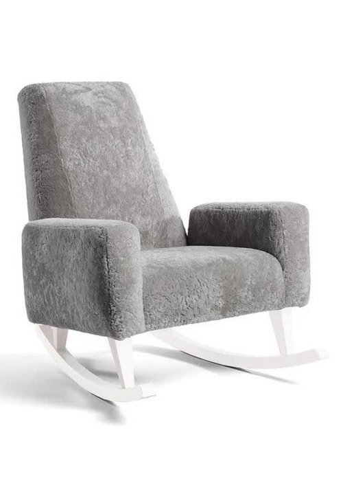 Duc Duc Duc Duc Collins Rocker In White/Curly Auto GRay