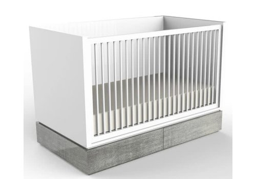 Duc Duc Duc Duc Dylan Crib In White/Weathered
