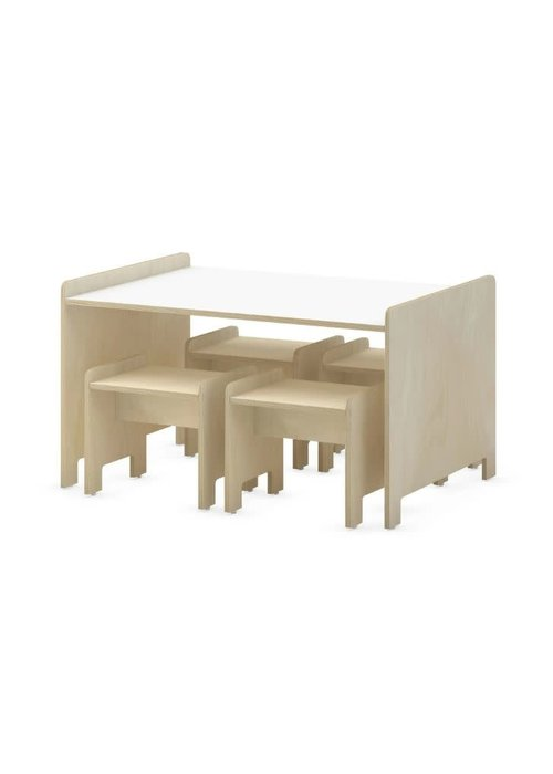 Duc Duc Duc Duc Juno  Playtable & Playstools In Natural Birch