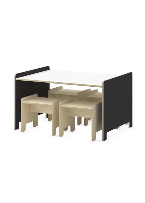 Duc Duc Duc Duc Juno Playtable & Playstools In Onyx