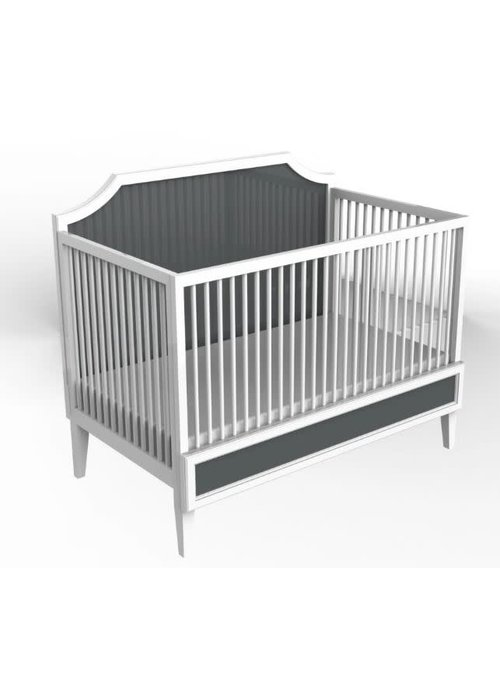 Duc Duc Duc Duc Litchfield Crib In Dark Gray/White