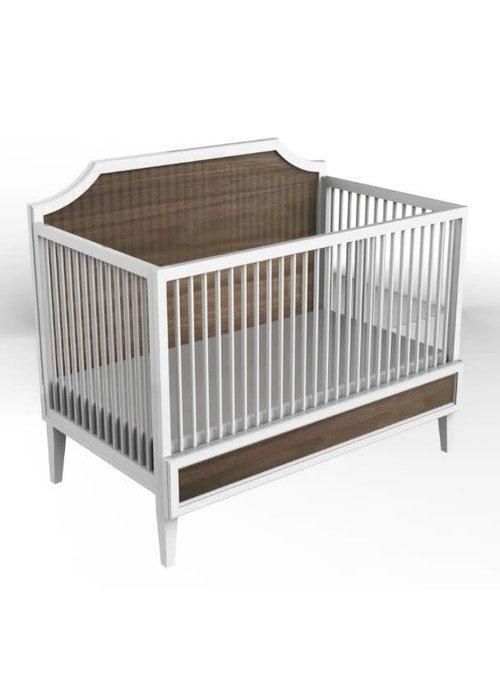 Duc Duc Duc Duc Litchfield Crib In White/Natural Walnut