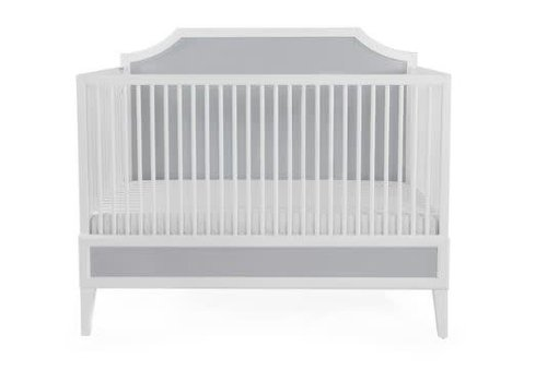 Duc Duc Duc Duc Litchfield Crib In White/Light Gray Cerused