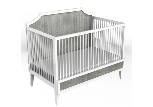 Duc Duc Duc Duc Litchfield Crib In White/Weathered
