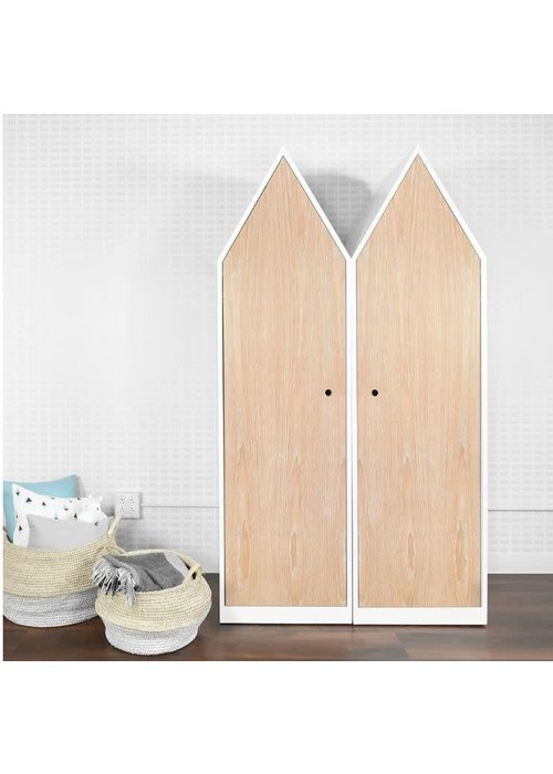 Duc Duc Duc Duc Marley House Closet In White/Heavy White Cerused