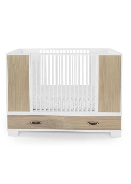 Duc Duc Duc Duc Morgan Crib In White/Bleached Walnut