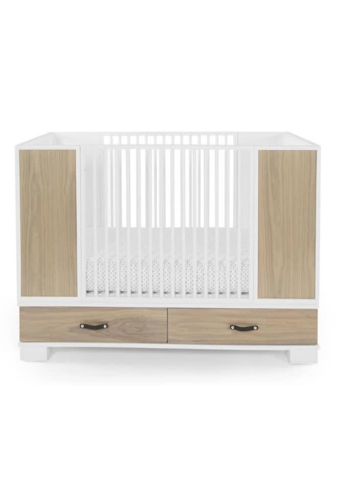 Duc Duc Morgan Crib In White/Bleached Walnut
