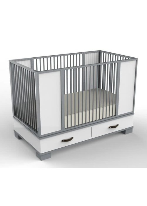 Duc Duc Duc Duc Morgan Crib In Light Gray/White