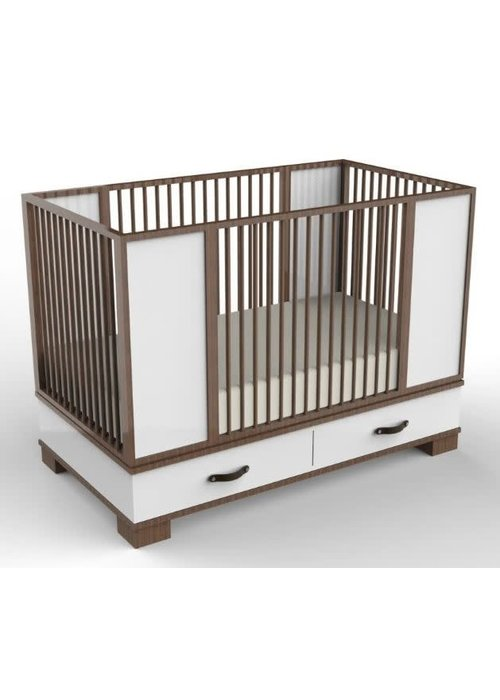 Duc Duc Duc Duc Morgan Crib In Natural Walnut/White