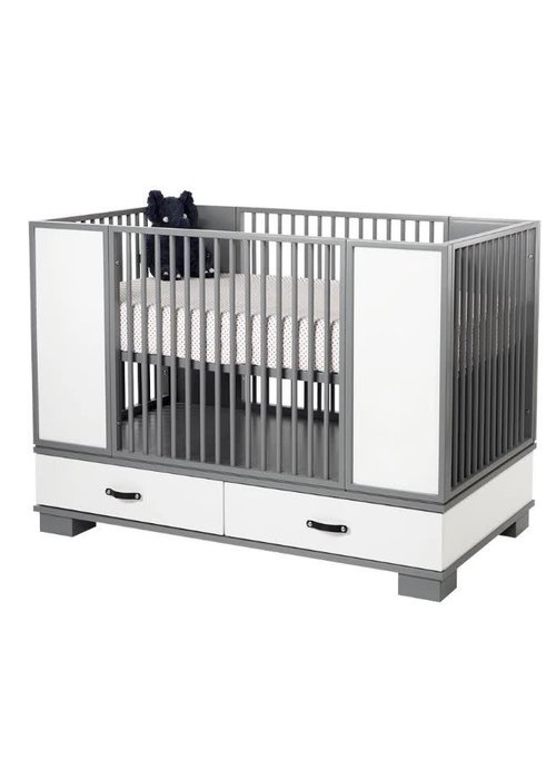 Duc Duc Duc Duc Morgan Crib In Dark Grey/White