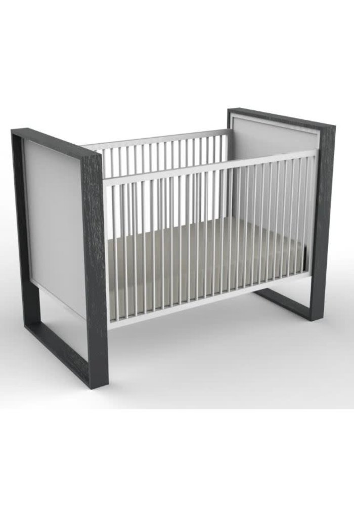 Duc Duc Parker Crib (Painted) In Dark Gray Cerused/White