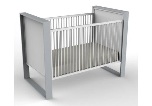 Duc Duc Duc Duc Parker Crib (Painted) In Light Gray/White