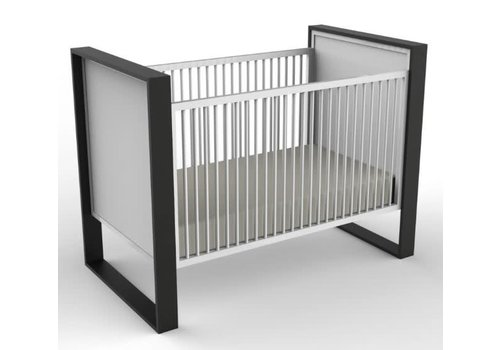 Duc Duc Duc Duc Parker Crib (Painted) In Onyx/White