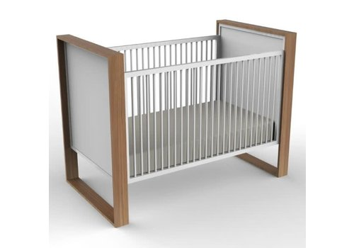 Duc Duc Duc Duc Parker Crib (Painted) In Natural Oak/White