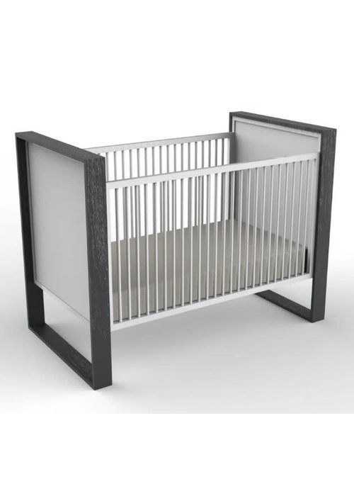 Duc Duc Duc Duc Parker Crib (Painted) In Bleached Walnut/White