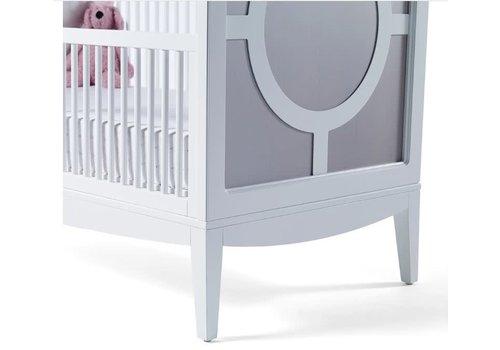 Duc Duc Duc Duc Regency Crib In Solid Color Glaze Silver On Maple