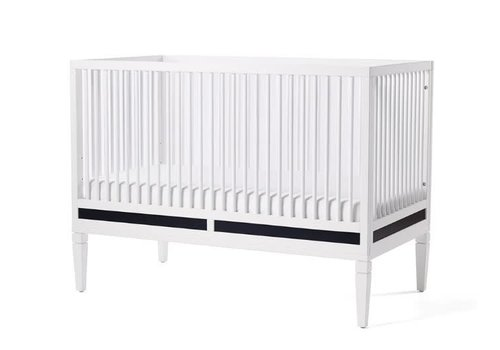 Duc Duc Duc Duc Savannah Crib In White/Onyx