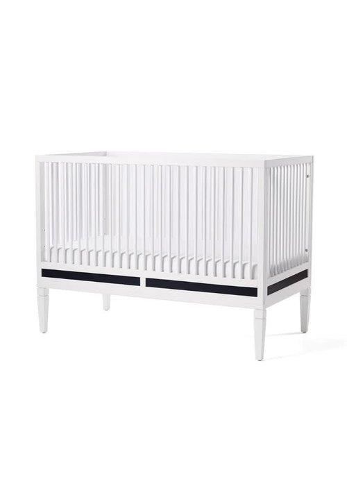 Duc Duc Duc Duc Savannah Crib In White/Onyx