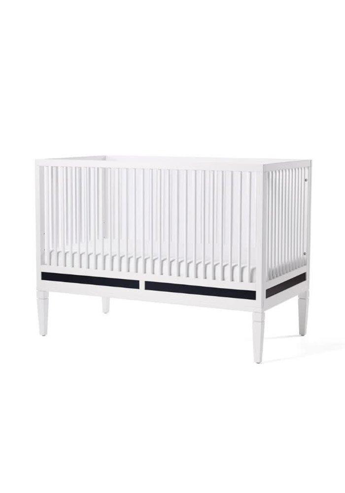 Duc Duc Savannah Crib In White/Onyx