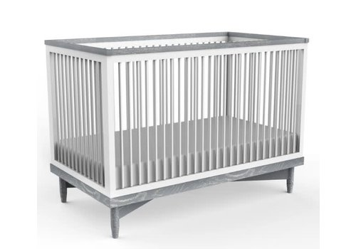 Duc Duc Duc Duc Soho Crib In White/Light Gray Cerused