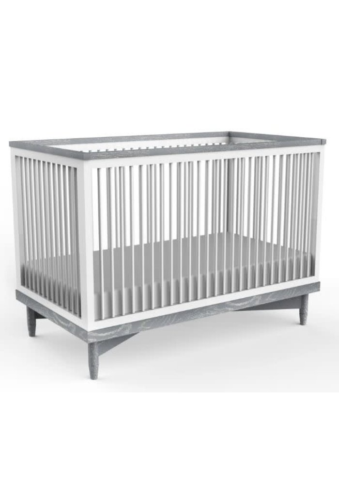 Duc Duc Soho Crib In White/Light Gray Cerused