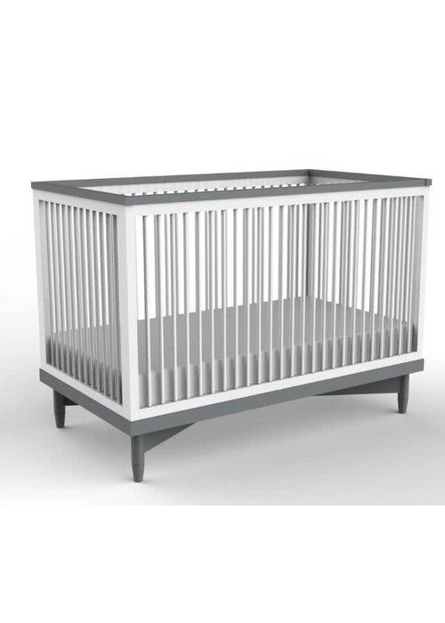 Duc Duc Duc Duc Soho Crib In White/Dark Grey