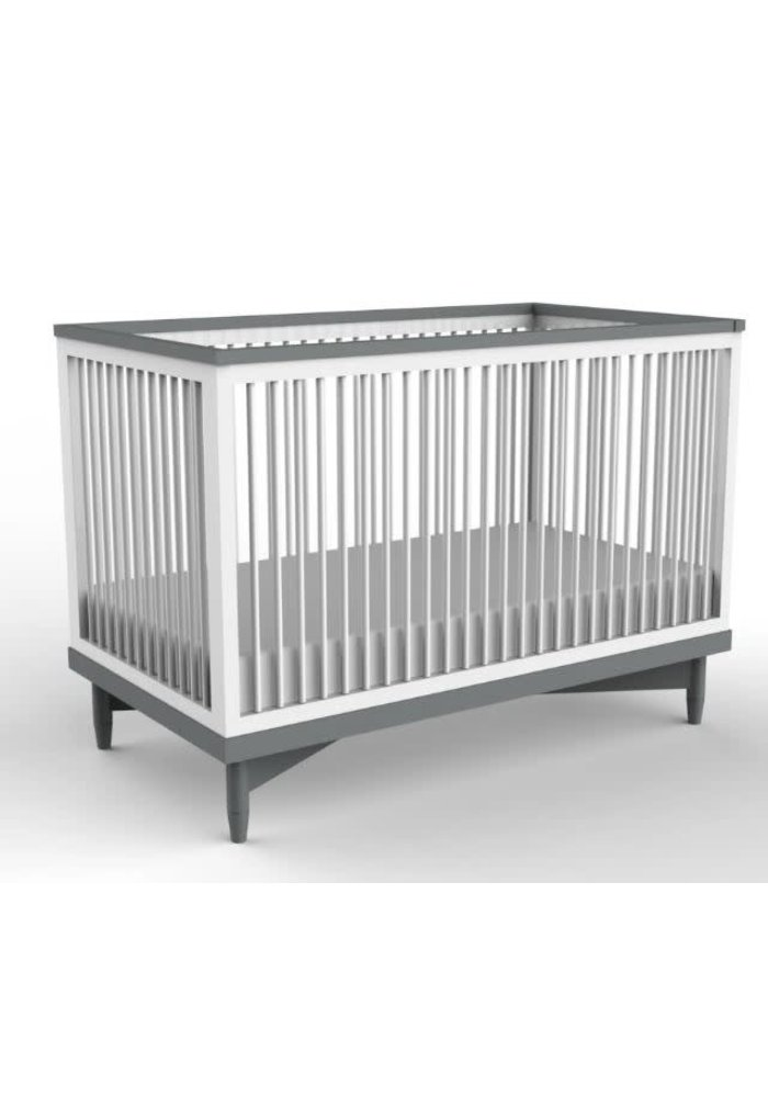 Duc Duc Soho Crib In White/Dark Grey
