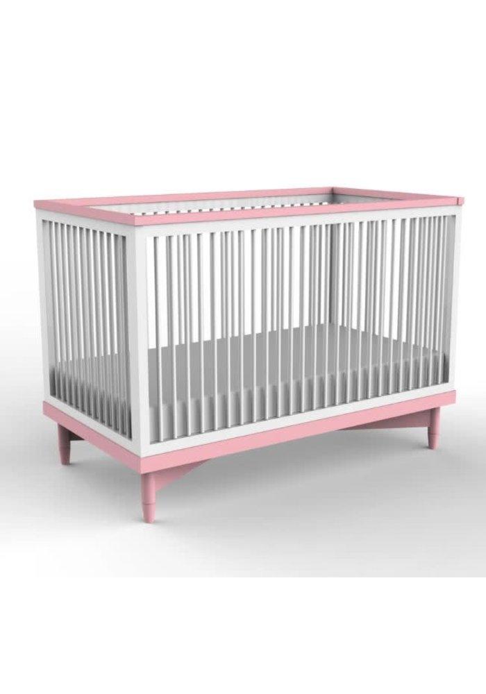 Duc Duc Soho Crib In White/Sweet Sixteen